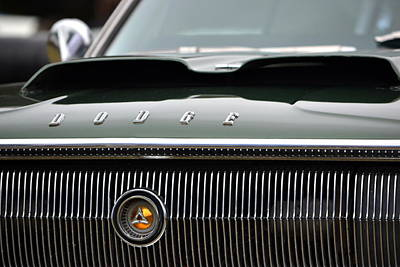 Dodge Charger Hood Poster by Dean Ferreira