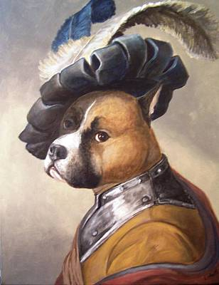 Dog In Gorget And Cap Poster