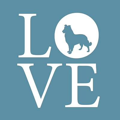 Dog Love Poster by Nancy Ingersoll