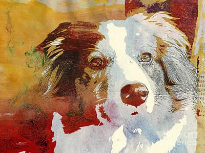 Dog Portrait Poster by Jutta Maria Pusl