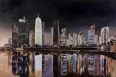 Doha Qatar Poster by Guido Borelli