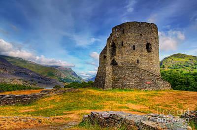 Dolbadarn Castle  Poster by Adrian Evans