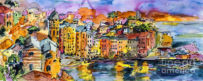 Dolce Vita In Vernazza Italy Poster by Ginette Callaway