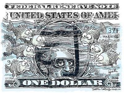Dollar Submerged Poster