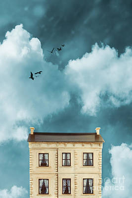 Dolls House Against Blue Sky Poster by Amanda Elwell