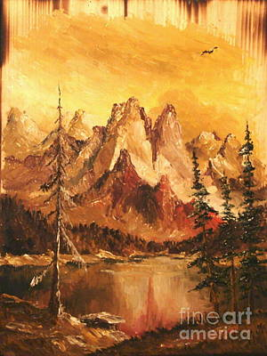 Poster featuring the painting Dolomiti by Sorin Apostolescu