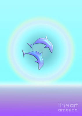 Dolphin Joy Poster by Beverley Brown