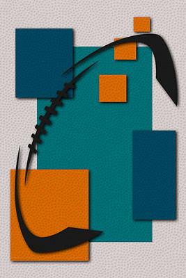 Dolphins Football Art Poster by Joe Hamilton