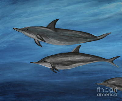 Dolphins - Painting  Poster