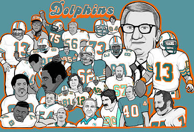 Dolphins Ring Of Honor Poster by Gary Niles