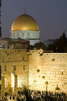Dome Of The Rock And The Western Wall Poster by Richard Nowitz