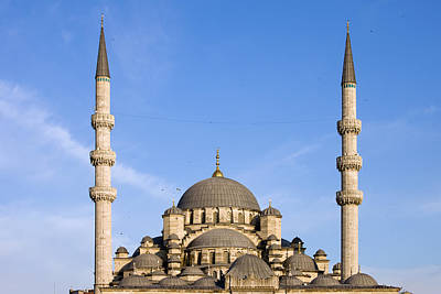 Domes And Minarets Of New Mosque In Istanbul Poster by Artur Bogacki