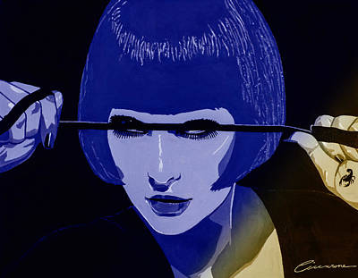 Dominatrix In Blue Poster by Joe Ciccarone