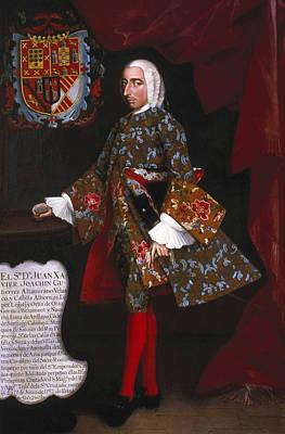 Don Juan Xavier Joachin Gutierrez Altamirano Velasco Poster by Miguel Cabrera