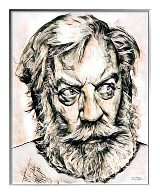 Donald Sutherland Illustration Poster by Scott Wallace