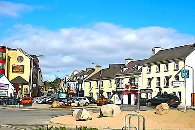 Donegal Town Poster by Charlie and Norma Brock