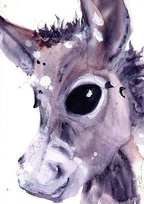 Poster featuring the painting Donkey by Dawn Derman