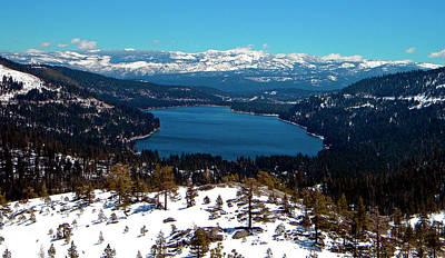 Donner Lake Sierra Nevadas Poster