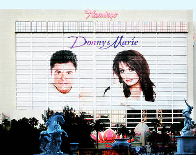 Donny And Marie Osmond Large Ad On Hotel Poster