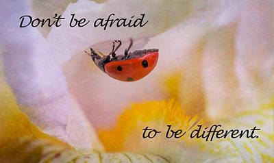 Don't Be Afraid Poster by Elena E Giorgi