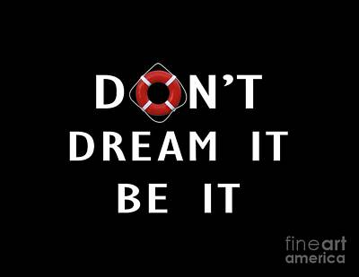 Don't Dream It Be It Rocky Horror Picture Show Tee Poster by Edward Fielding