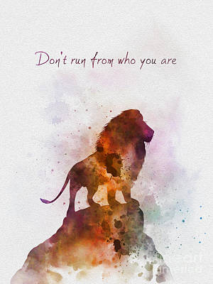 Don't Run From Who You Are Poster by Rebecca Jenkins