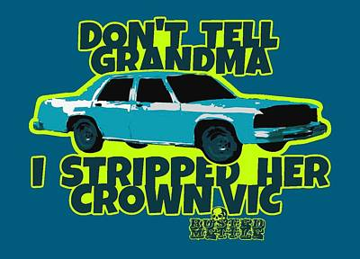 Don't Tell Grandma Poster by George Randolph Miller
