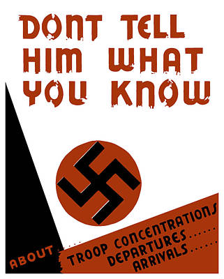 Don't Tell Him What You Know Poster