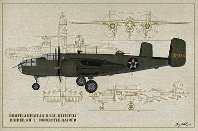 Doolittle Raiders - Raider One Poster by Tommy Anderson