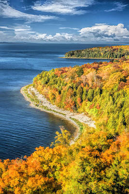 Door County Svens Bluff Scenic Overlook Poster by Christopher Arndt