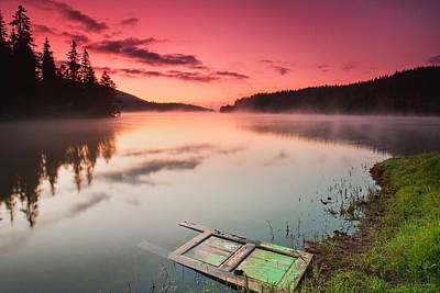 Door In The Lake Poster by Evgeni Dinev