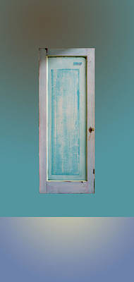 Old Door Over Ocean Poster by Asha Carolyn Young and Daniel Furon