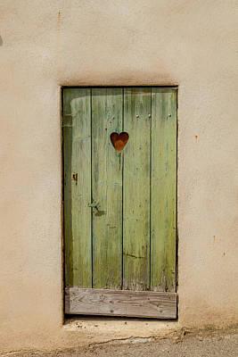 Door With Heart In Ancy Poster