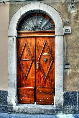 Doors Of Sicily Poster by Mel Steinhauer
