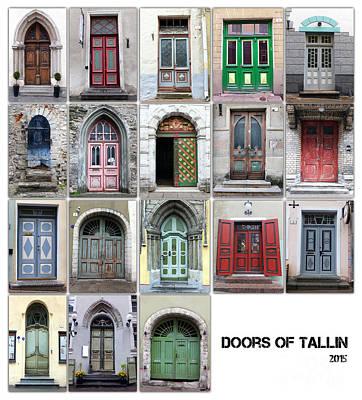 Doors Of Tallinn Poster by Justyna JBJart
