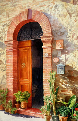 Doorway In Tuscany Number 2 Poster