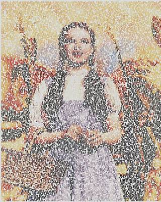 Poster featuring the mixed media Dorothy Made Of Wizard Of Oz Quotes by Paul Van Scott
