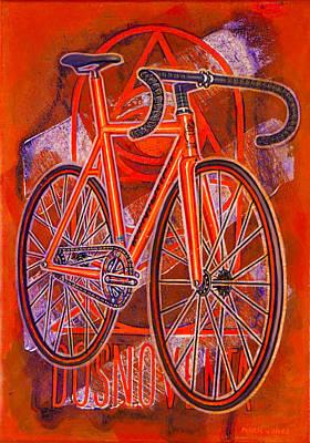 Dosnoventa Houston Flo Orange Poster by Mark Howard Jones