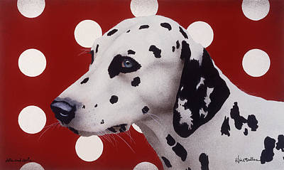 Poster featuring the painting Dots And Spots... by Will Bullas