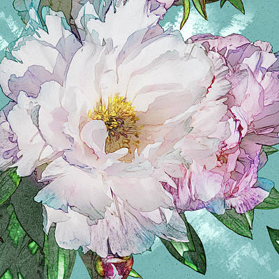 Double Peony Poster
