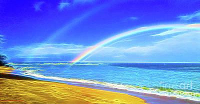 Double Rainbow  Poster by Jerome Stumphauzer