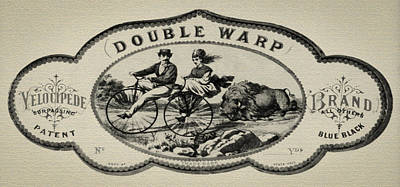 Double Warp Velocipede 1869 Bicycle Poster