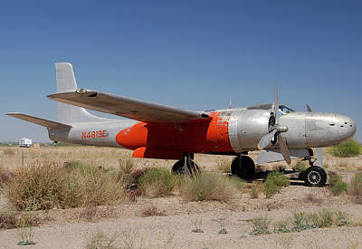 Douglas B-26b Invader N4819e Buckeye Arizona April 29 2011 Poster