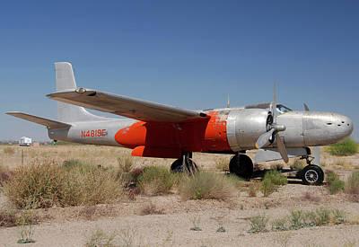 Douglas B-26b Invader N4819e Buckeye Arizona April 29 2011 Poster by Brian Lockett