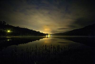 Poster featuring the photograph Douthat Lake Night by Alan Raasch