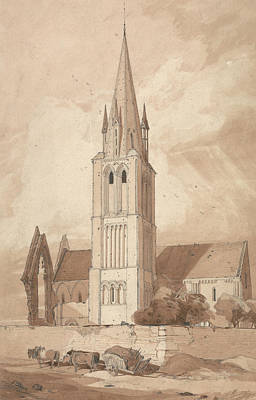 Douvres Church, Normandy Poster by John Sell Cotman