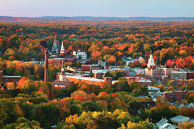 Dover Autumn Colors Poster by Eric Gendron