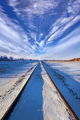 Down By The Tracks Poster by Phil Koch