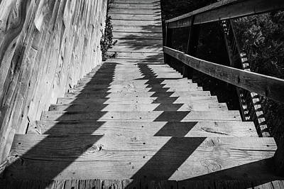 Down Stairs At Bannack Poster