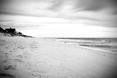 Down The Shore In Black And White - Jersey Shore Poster by Angie Tirado